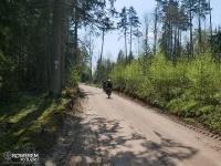 Leśne drogi na Green Velo za Supraślem