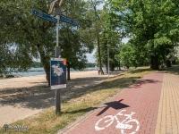 Oznakowanie tyskich szlaków rowerowych