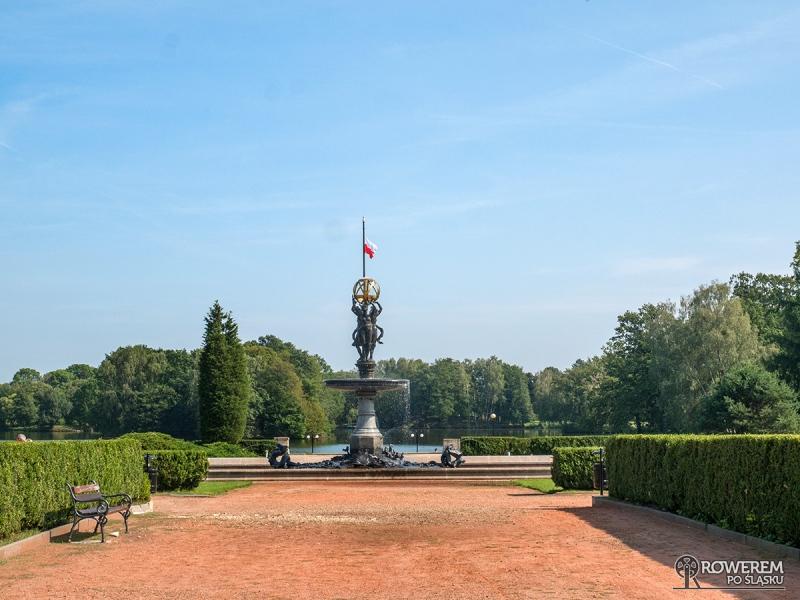 Fontanna w centrum parku