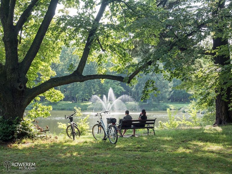 Park Świerklaniec uwielbiany przez rowerzystów