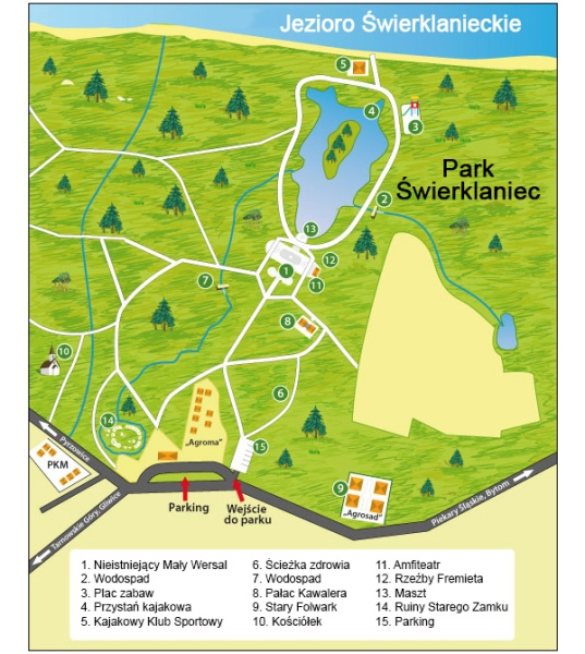 Mapa Parku w Świerklańcu