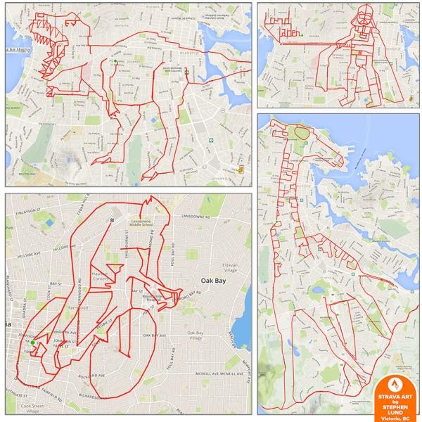 Rysunki na mapie Stephena Lunda