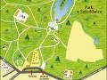 Park Świerklaniec - Mapa