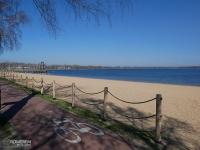 Pogoria III - plaża i droga rowerowa