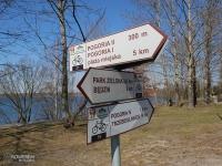 Oznakowanie szlaków roweroowych na Pogorii