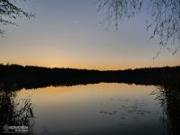 Zachód słońca nad stawem Barbara