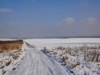 Okolica tuż przy centrum Jaworzna w zimowej scenerii