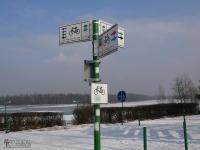 Oznakowanie szlaków rowerowych nad Zalewem Sosina