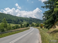 Droga z Rajczy przez Rycerkę Dolną w kierunku Soli