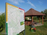 Miejsce odpoczynkowe dla rowerzystów w Dankowie