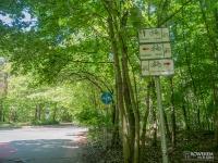 Skrzyżowanie szlaków rowerowych w Rudzie Śląskiej