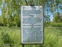 Tablica informacyjna o podobozie Auschwitz w Rudzie Śląskiej