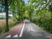 Początek drogi rowerowej z Piasku do Pszczyny