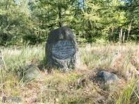 Stary kamień upamiętniający upolowanie jelenia