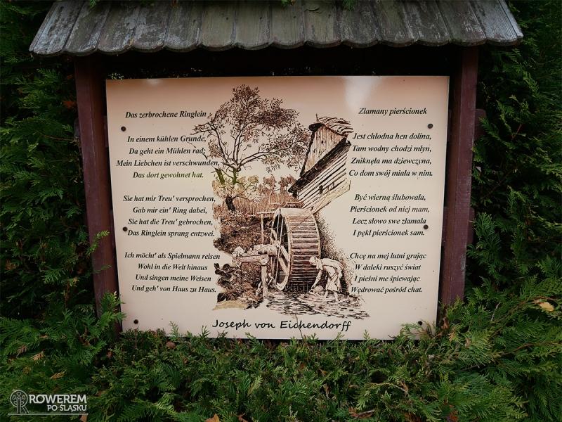 Tablica z wierszem Eichendorffa