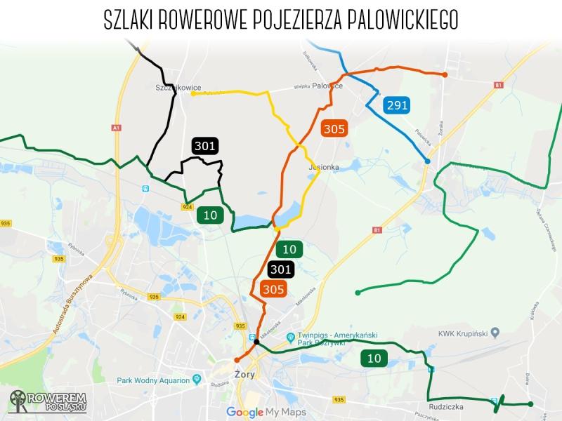 Szlaki rowerowe Pojezierza Palowickiego