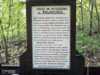 Tabliczka przy krzyżu w Palowicach