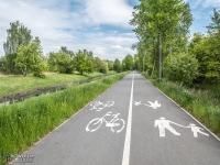 Droga rowerowa na bulwarach