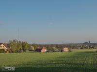 Widok na Beskid Śląski i najwyższy w Polsce maszt