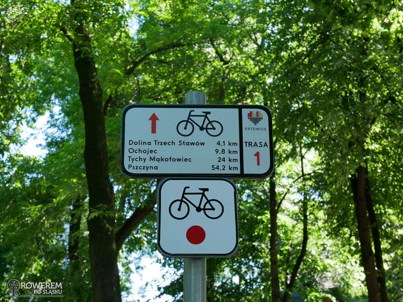 Czerwony szlak rowerowy nr 1 - oznakowanie