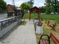 Punkt odpoczynkowy i galeria w dzielnicy Wilkowyje
