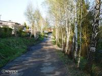Droga obok ogródków działkowych