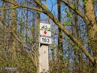 koniec czerwonego szlaku rowerowego