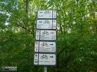 oznakowanie katowickich szlaków rowerowych