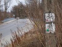 Koniec czerwonego i zielonego szlaku rowerowego