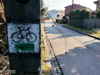 Oznakowanie - Zielony Szlak Rowerowy Mysłowice