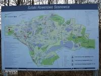 Mapa szlaków rowerowych w Sosnowcu