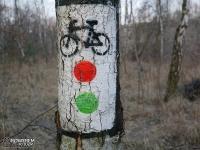 Oznaczenia szlaków rowerowych w Sosnowcu
