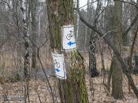 Oznakowanie szlaku rowerowego Lasu Zagórskiego