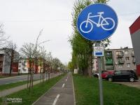 Droga rowerowa w dzielnicy Helenka