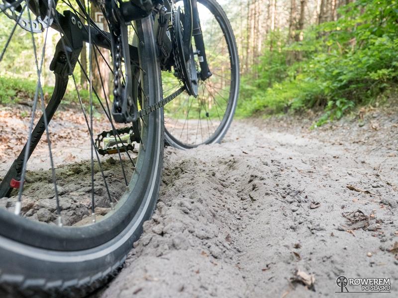 Fatalne piaszczyste drogi leśne między Golczowicami a Rabsztynem