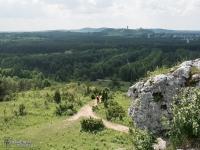 Góry Towarne i widok na Zamek w Olsztynie
