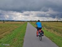 Długa asfaltowa prosta między Nowym Targiem a Czarnym Dunajcem