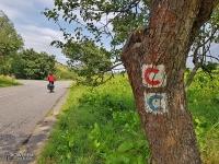 Oznakowanie słowackiej cyklotrasy