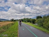 Droga rowerowa do Popradu, chwila przed upadkiem