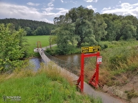 Bujający most nad rzeką Poprad