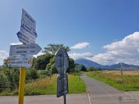 Oznakowanie na drodze rowerowej na Słowacji