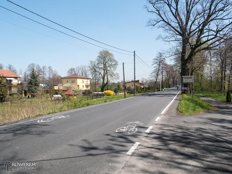 Ulica Bielska prowadzi ze wsi Chybie do wsi Landek, a dlatego, że jest wąska i bez pobocza na asfalcie pojawiają się namalowane znaki sierżanta rowerowego, które mają informować kierowców samochodów o zwiększonej liczbie cyklistów na tym odcinku.