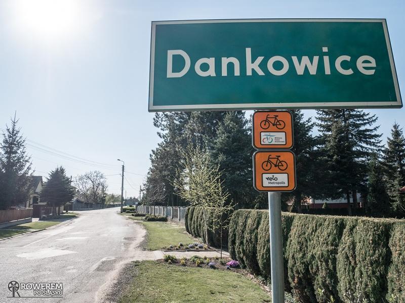 Dankowice - granica z woj. małopolskim. Koniec śląskiego odcinka Wiślanej Trasy Rowerowej