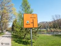 Znak informujący o skrzyżowaniu z innymi szlakami rowerowymi