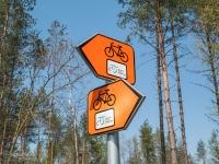 Bardzo dobre oznakowanie szlaku na całym śląskim odcinku WTR
