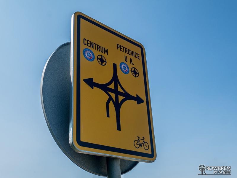 Żelazny Szlak Rowerowy - oznakowanie w Czechach