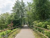 Droga rowerowa po nasypie kolejowym z Jastrzębia-Zdroju do Zebrzydowic