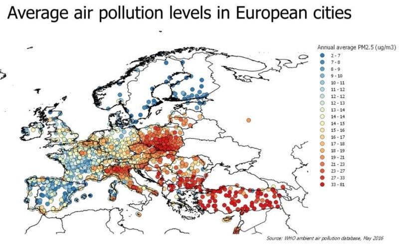 Zanieczyszczenie powietrza w Europie