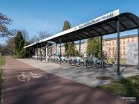Stacja rowerów miejskich w parku Sieleckim