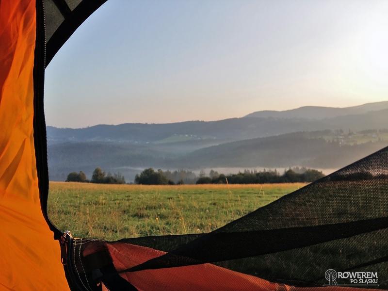 Widok z namiotu - Złoty Groń